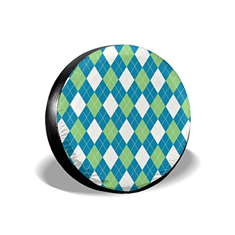 Rv Tires Find Rv Motor Home Camper Tires Gcr Tires >> Amazon Com Spare Tire Cover Argyle Pattern Blue Green