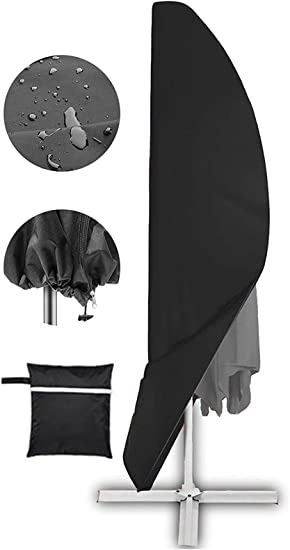 offset umbrella cover patio umbrella cover for 9ft to 13ft cantilever parasol outdoor market umbrellas cover with zipper and water resistant fabric