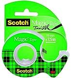 Scotch Magic Type , Mini Chiocciola di nastro adesivo trasparente, 1 pezzo, finitura opaca, invisibile su carta, 19 mm x 7.5 m