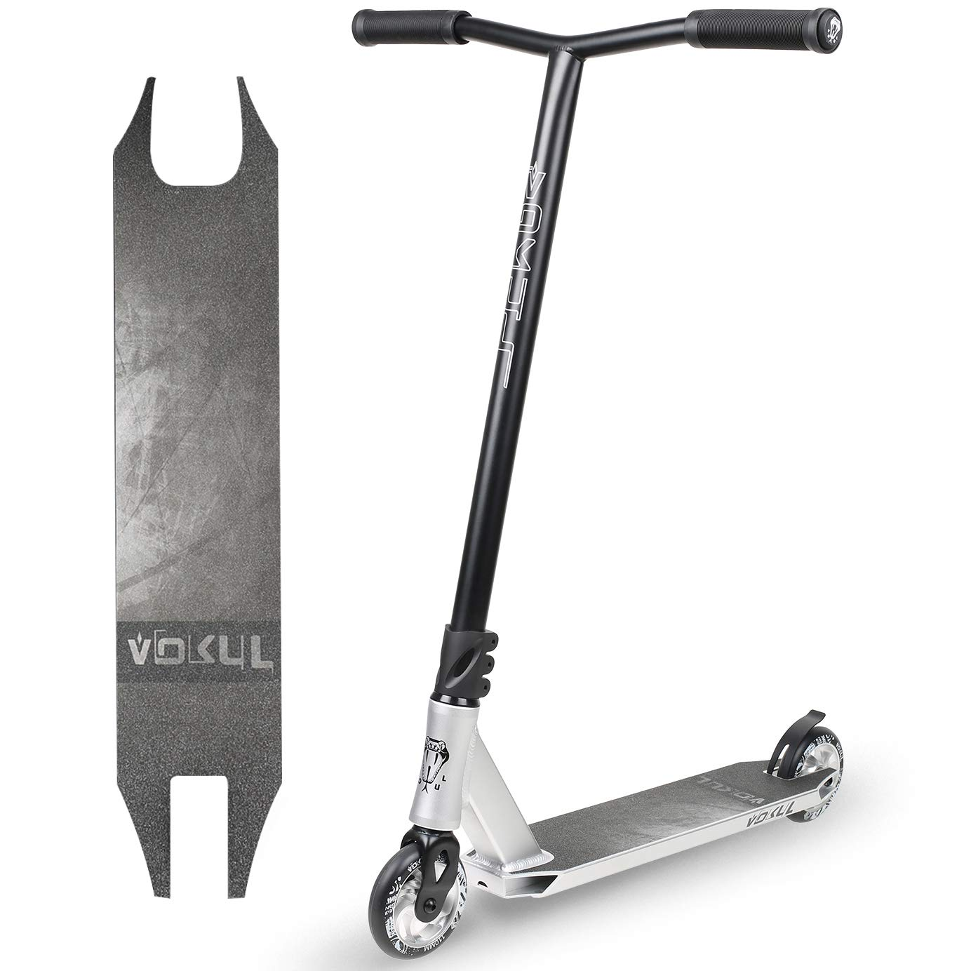 VOKUL K1 Complete Pro Scooter for Kids Boys Girls Teens Adults Up 7 Years - Freestyle Tricks Pro Stunt Scooter with 110mm Metal Wheels - High Performance Gift for Skatepark Street Tricks