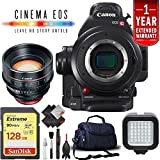 Canon EOS C100 Mark II Cinema Camera Body Only + 128GB Extreme SD Card (w/85mm Cinema, Base) International Version -  6Ave