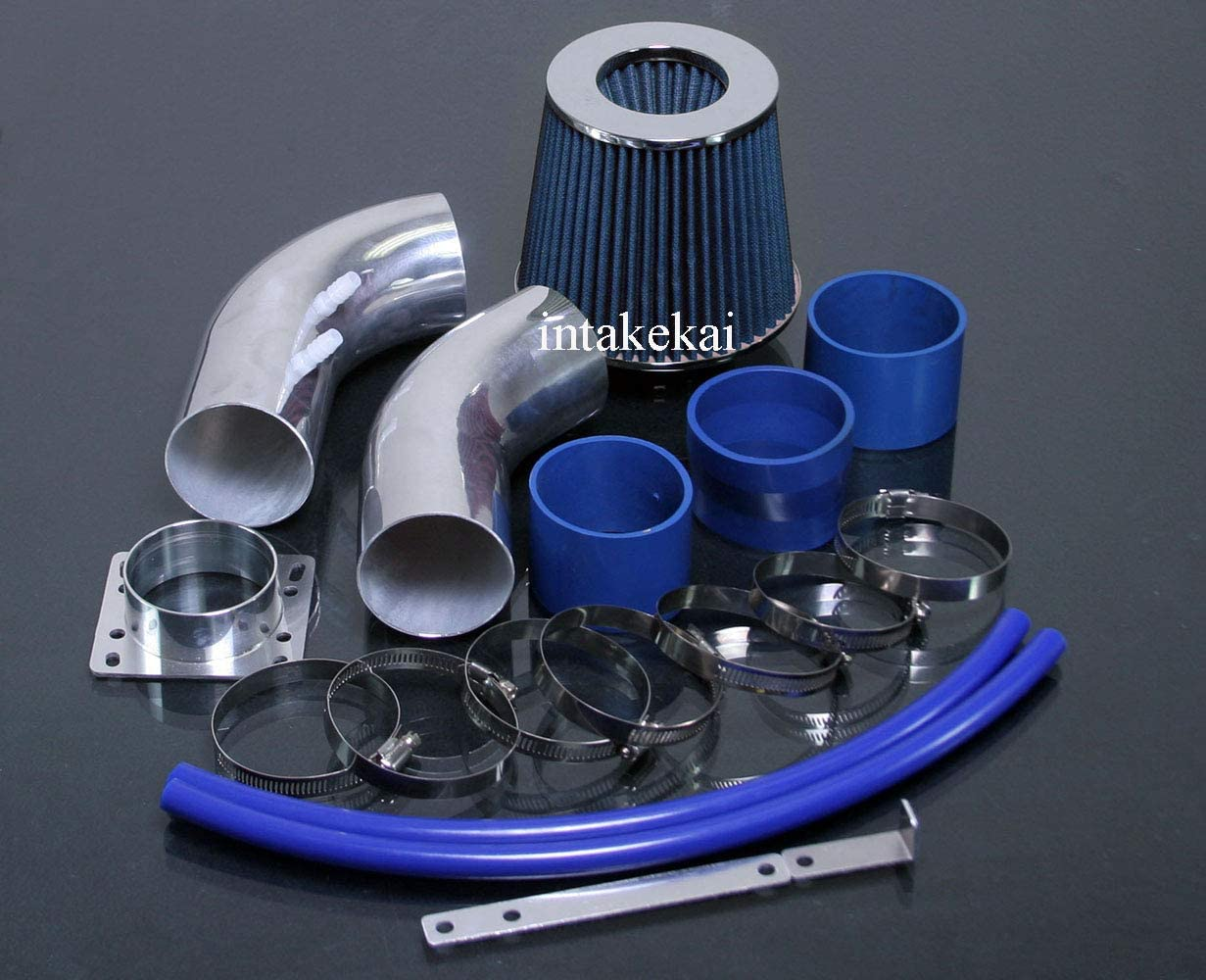 PERFORMANCE AIR INTAKE KIT FIT 1988-1995 Toyota 4runner//Tacoma//T100 Pickup V6 3.0l ENGINE BLUE