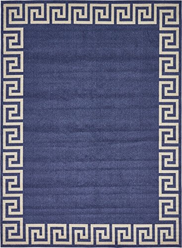 A2Z Rug Modern Contemporary Area Rug Geometric Navy Blue 10′ x 13′ FT Santorini Collection Rugs – rugs for living room – rugs for dining room & bedroom – Floor Carpet Review
