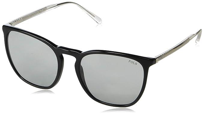 Polo 0PH4141 Gafas de sol, Rectangulares, 54, Black: Amazon ...