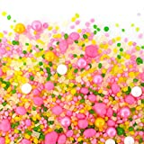 Candy Sprinkles | Flamingo Candyfetti | 8oz Jar | Pink Yellow and Green | MADE IN THE USA! | Edible Confetti
