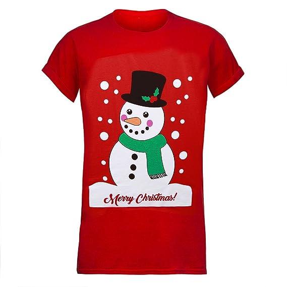 Hombre Mujer Navidad Camiseta Navidad unisex Santa Reno Muñeco De Nieve Novedad Camiseta: Amazon.es: Ropa y accesorios