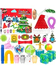 Advent Calendar 2021 Fidget Toys Pack - 24 Days Christmas Holiday Countdown Calendar with 24pcs Surprises of Sensory Fidget Toys, Perfect Gifts for Boys Girls Party Favor