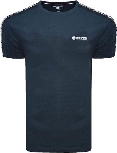 Lambretta - Camiseta de algodón para hombre, color azul marino azul marino XXXXL: Amazon.es: Ropa y accesorios