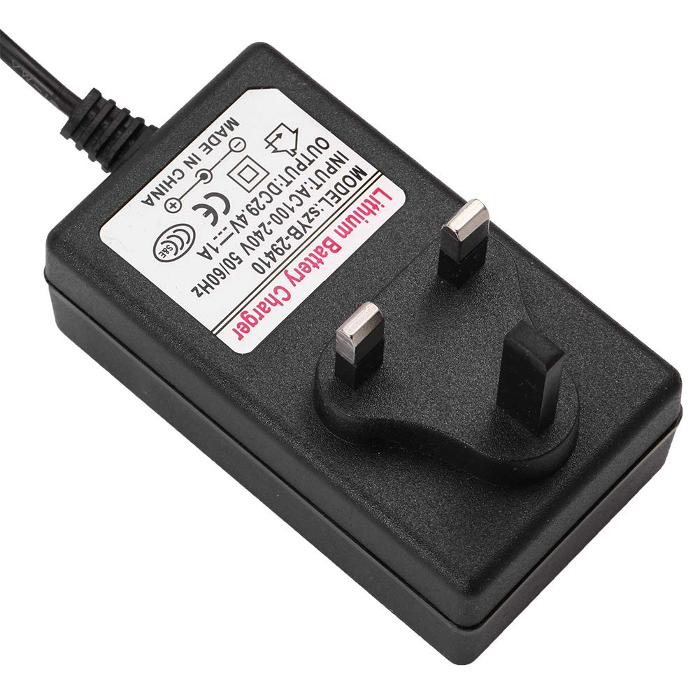 UK Universal Multi Voltage Power Supply Adapter Charger DC Power Supply for Headlights Toy Cars Electric Scooter Household Electronic Devices. 29.4V1A Power Adapter