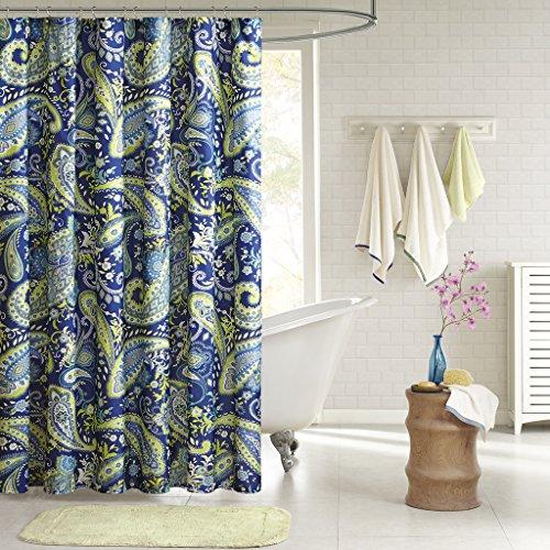 Intelligent Design ID70-512 Melissa Shower Curtain 72x72 Blue