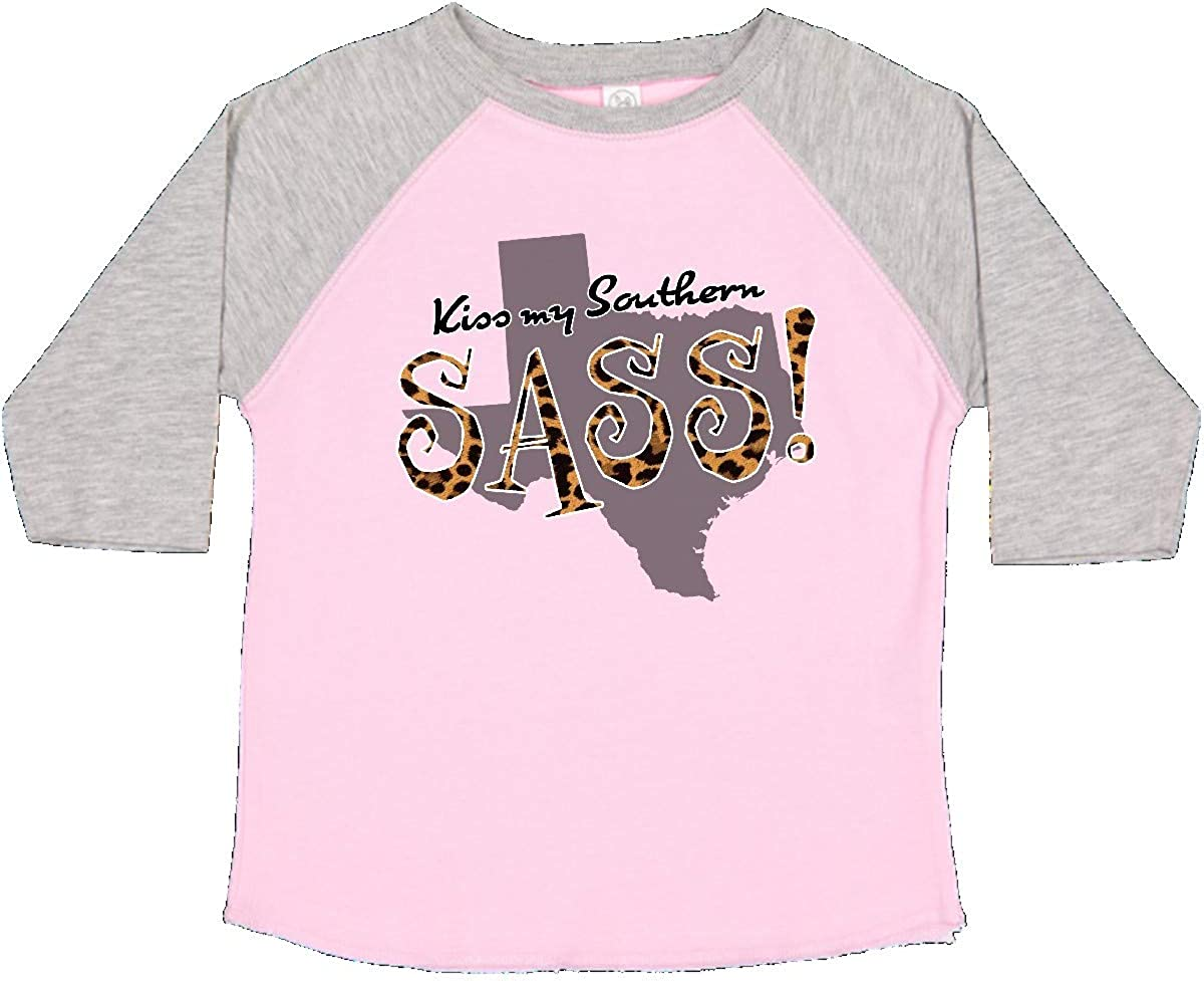 inktastic Texas Kiss My Southern Sass in Leopard Print Toddler T-Shirt