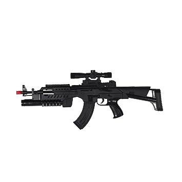 サバイバルゲーム 銃 おもちゃ 遊具 光線銃 競技銃 ガン 音 対戦 マグナム ブラック 男の子