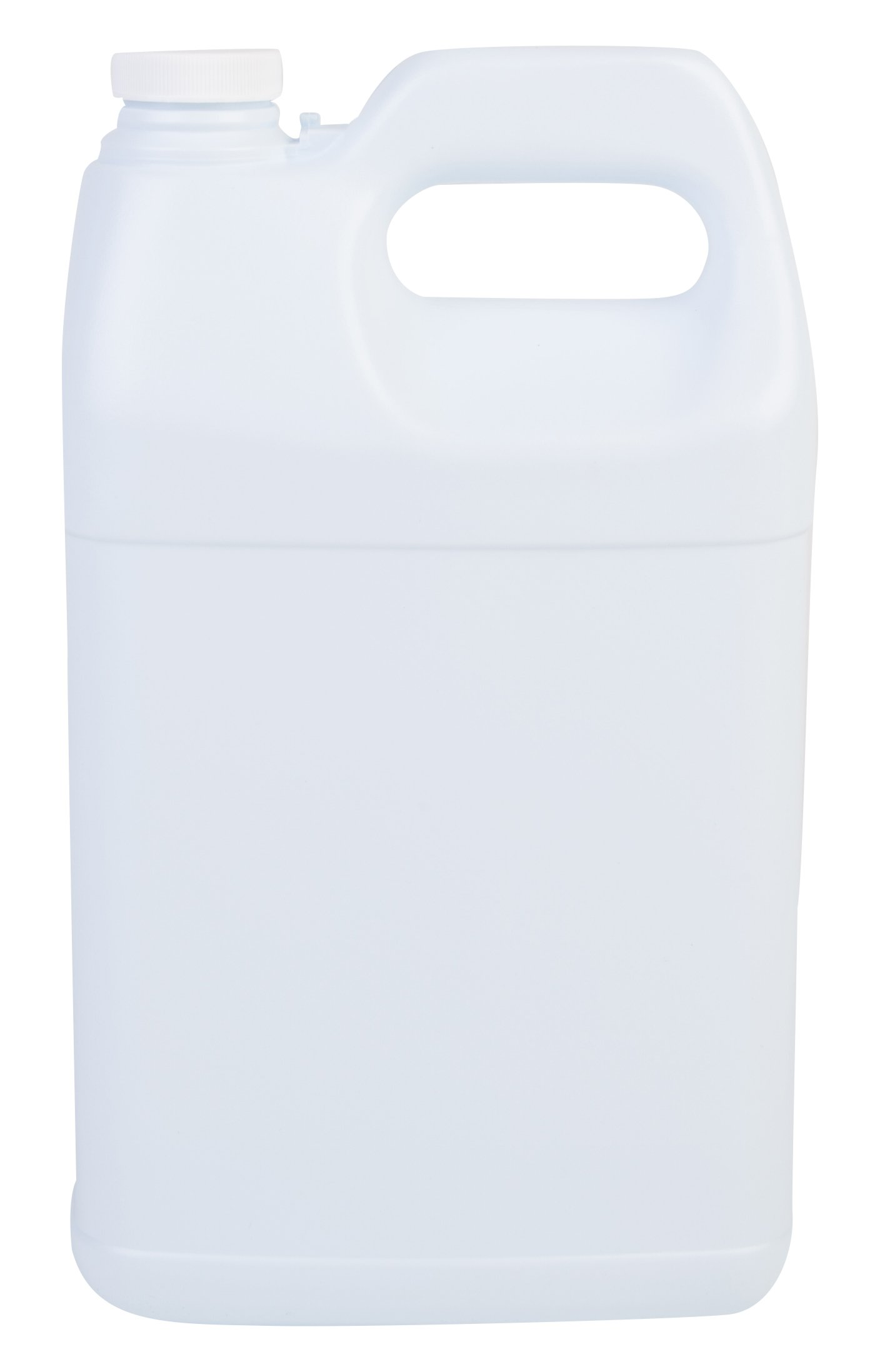 Hudson Exchange F-Style HDPE Plastic Jug with 38 mm Caps, 1 gal, White, 6 Piece