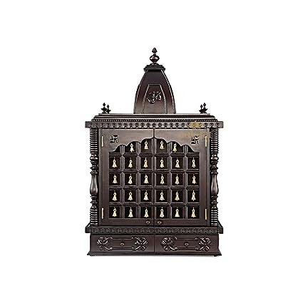 Aakaar Idols U0026 Temples Handcrafted Wooden Temple/Mandap/Pooja Mandir/Home  Temple Design