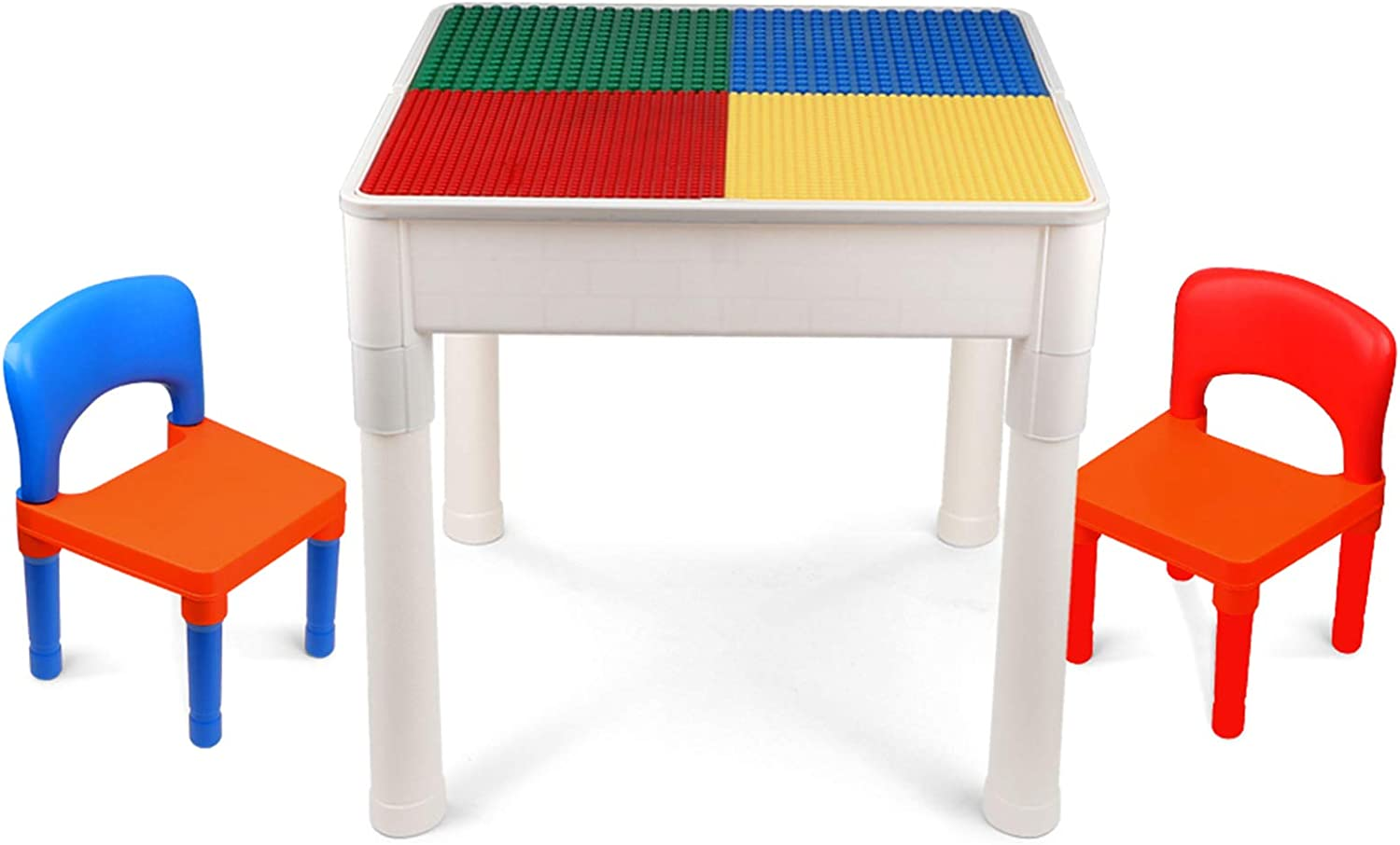 Lbla Kids Activity Table Set 4 In 1 Building Block Table Water Table Craft Table With 2 Chairs For Toddles Furniture Decor