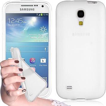 Cadorabo Funda para Samsung Galaxy S4 Mini en Semi Transparente: Amazon.es: Electrónica