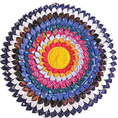 LXMBox Cojín Redondo de meditación, Estera de meditación ...