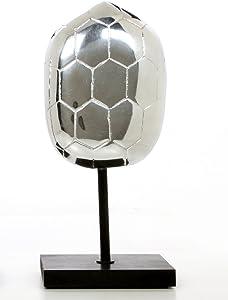 Hosley Decorative Silver Finish Turtle Shell Tabletop Pedestal- 11