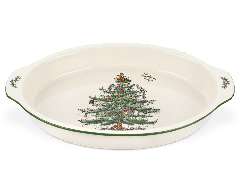 Spode Christmas Tree Au Gratin Dish 11.5 Inch XT5356-X