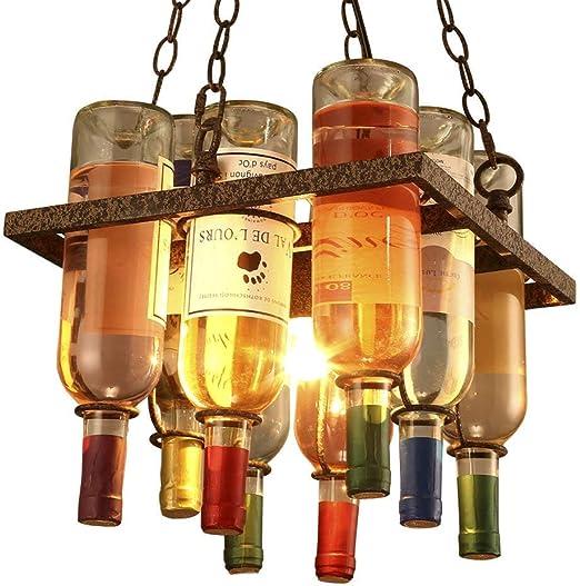 Araña de luces Lámparas de Botellas de Vidrio - Creativo Bar ...