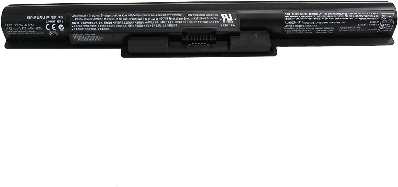 7XINbox VGP-BPS35A batería portatil 14.8V 40Wh 2670mAh E341239 Repuesto Batería para Sony Vaio Fit 14E 15E Series Svf142c29l Svf142c29u Svf14215sc Svf15216sc Svf15218sc Mh29581 Mh29634 BPS35A