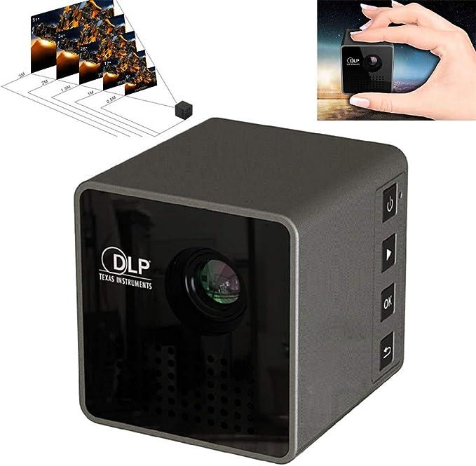 WZHESS Cine en casa Lúmenes Proyector de Video Proyector móvil ...