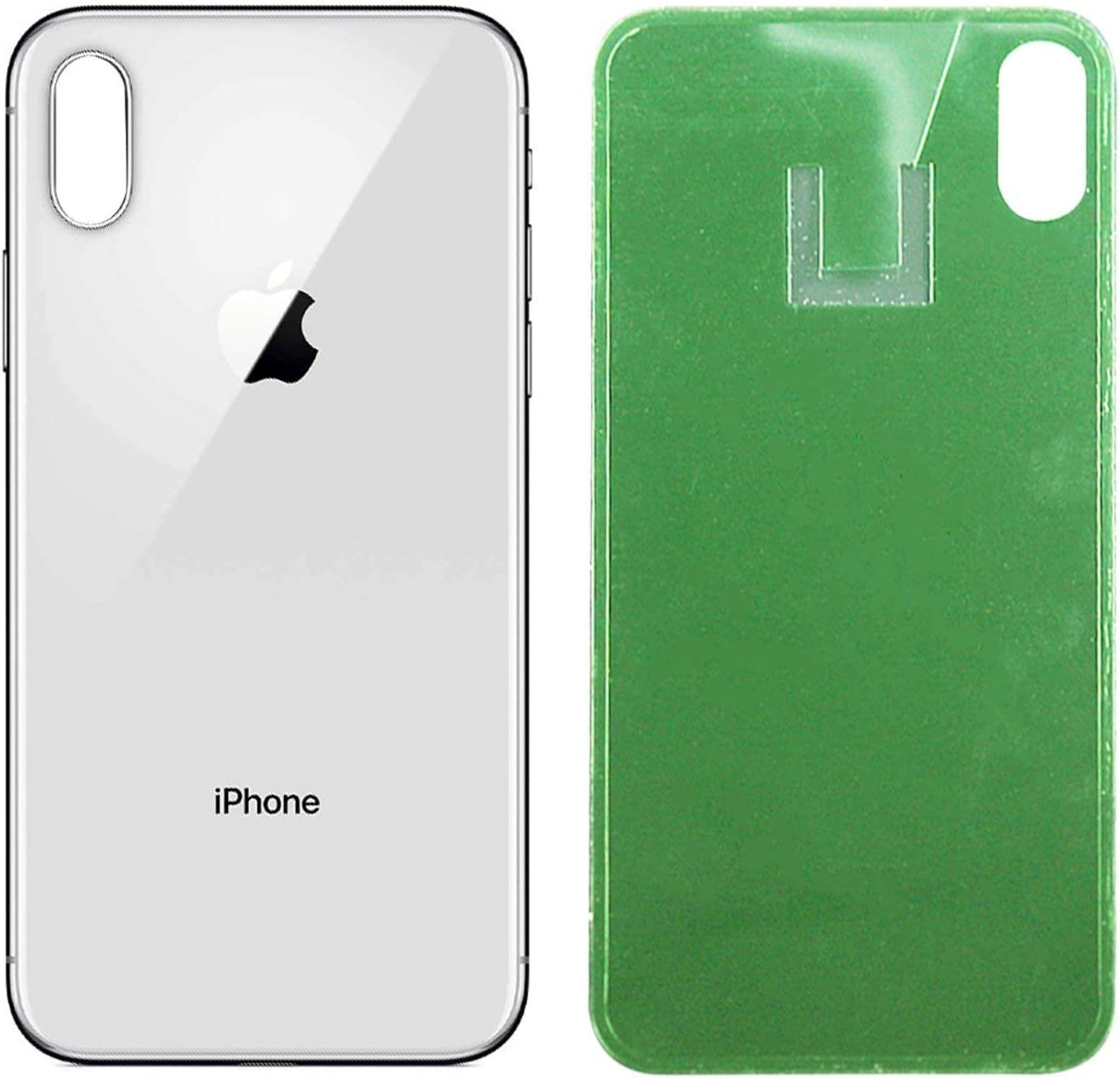 White Apple iPhone X Replacement Back Glass Cover Back Battery Door w//Pre-Installed Adhesive,Best Version Apple iPhone X All Models OEM Replacement
