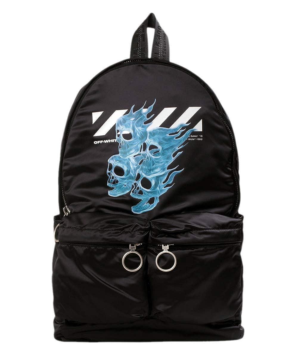 オフホワイト バックパック ◆ OFF WHITE SKULLS BACKPACK ブラック OMNB003S19D100171088 メンズ バッグ ブランド 鞄 リュック アクセサリー One Size ブラック/マルチカラー B07R5ZFJ1T