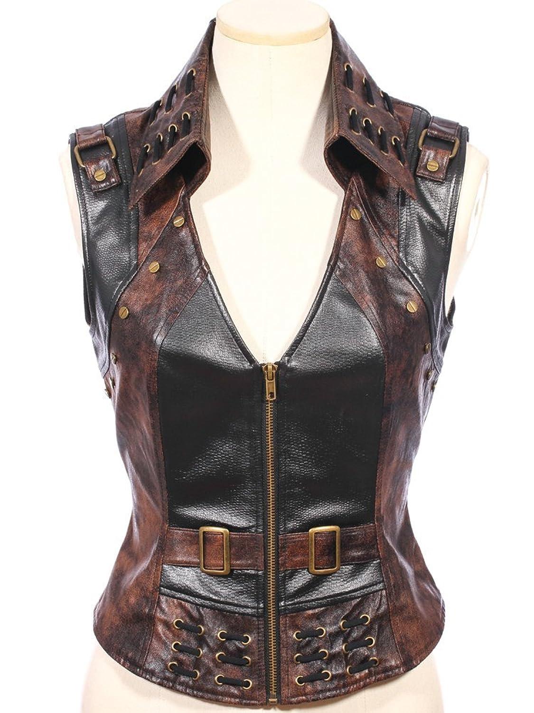 Steampunk Waistcoat Faux Leather