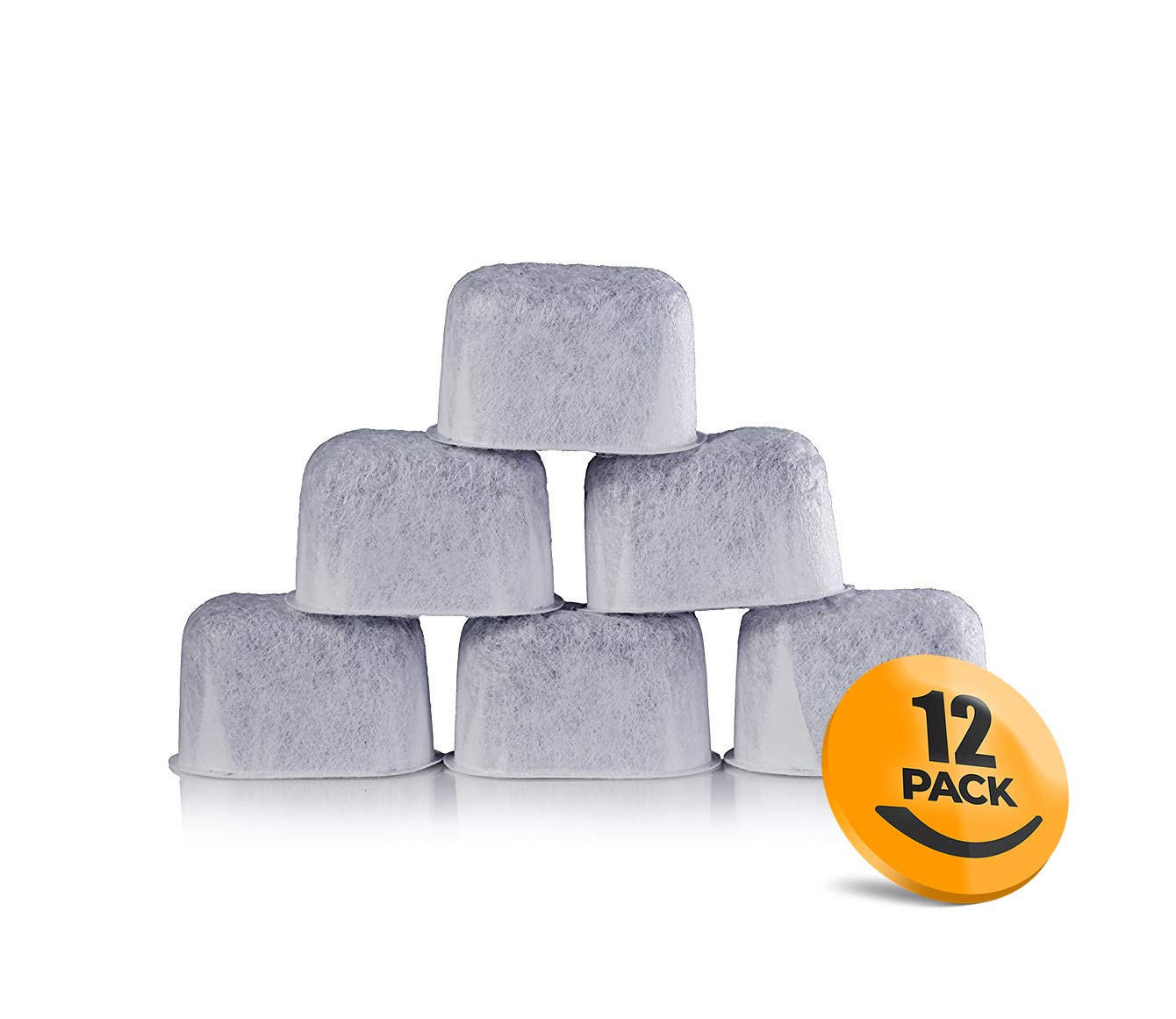 K&J 12-Pack of Cuisinart Compatible Replacement Charcoal Water Filters for Coffee Makers – Fits all Cuisinart Coffee Makers