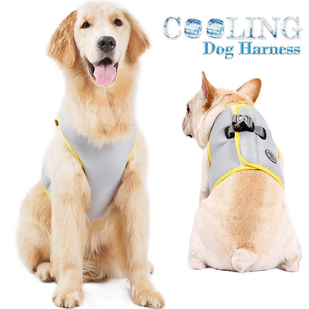 FOREYY Dog Cooling Harness for Outdoor Adventure Training Walking, Breathable Pet Cooler Vast Jacket Clothes for Small Medium Large Dogs