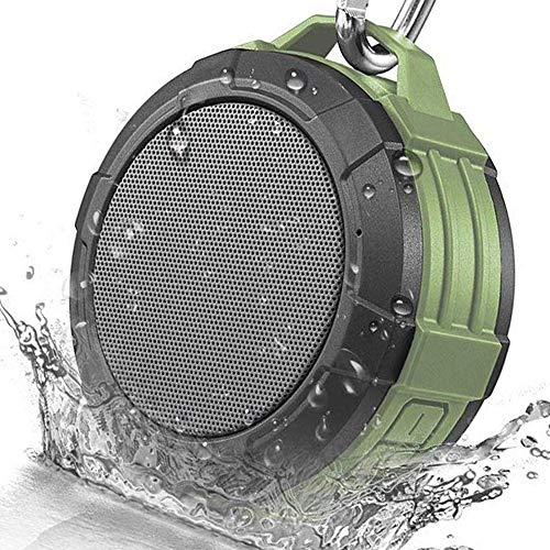 - Bluetooth Speaker Wireless Portable Outdoor Waterproof Hiking Travel Hands Free Call Mic Connect iPhone Android (Green)