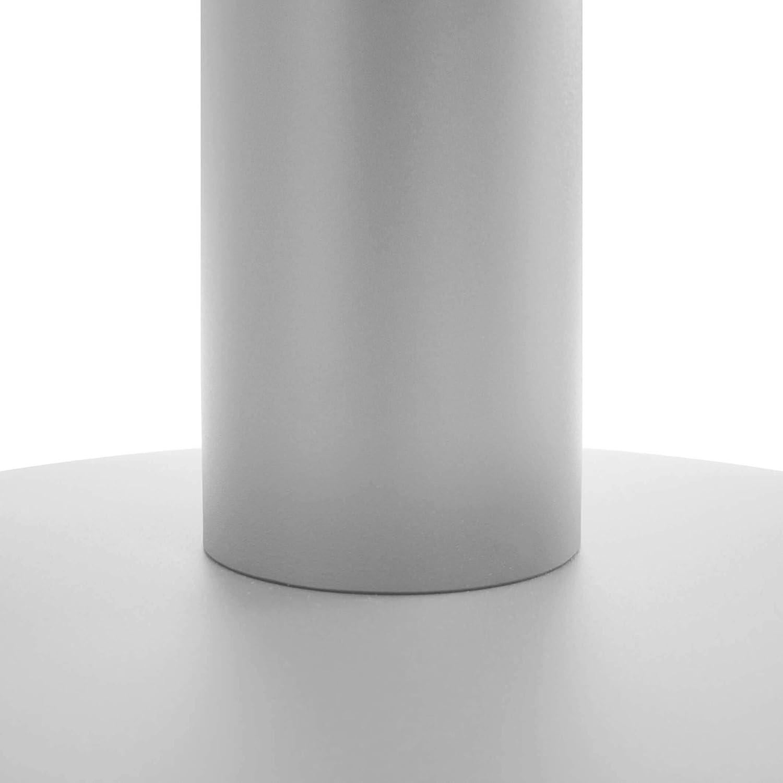 Tavolo Rotondo per colloqui in Rovere dambra con Struttura Argentata Diametro 120 cm WeberB/ÜRO Optima