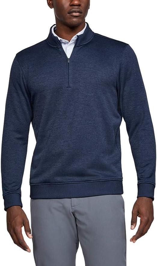 Under Armour Men/'s Stealth Gray Armour Fleece Lightweight 1//4 Zip Jacket