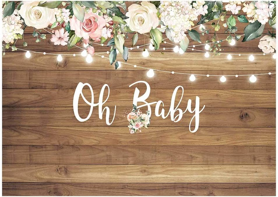 Baby Shower Letter Photo Booth Garland Banner Party Photography Props Decor
