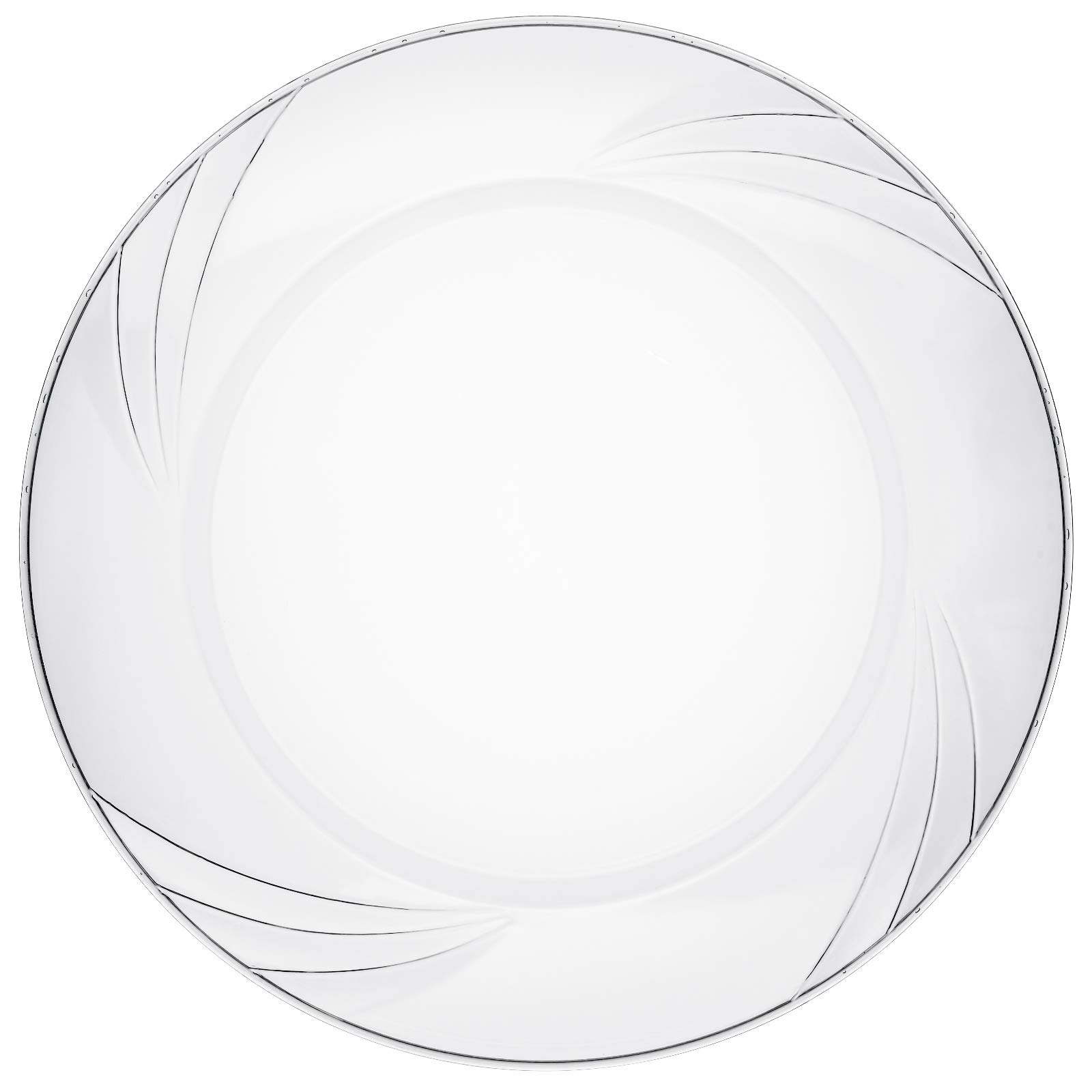 """Disposable Clear Plastic Plates - 50 Pack - 6.5"""" Round Dessert and Appetizer Size - Premium Quality Hard and Elegant Party Goods - For Parties and Everyday Use - Aya's Cutlery Kingdom"""
