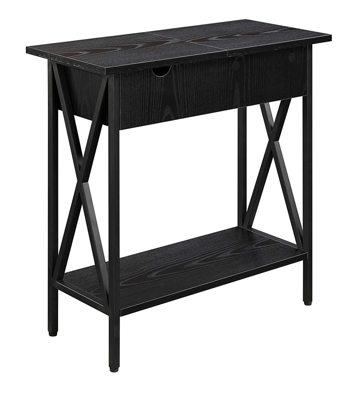 Convenience Concepts Tucson, Electric Flip Top Table, Black by Convenience Concepts