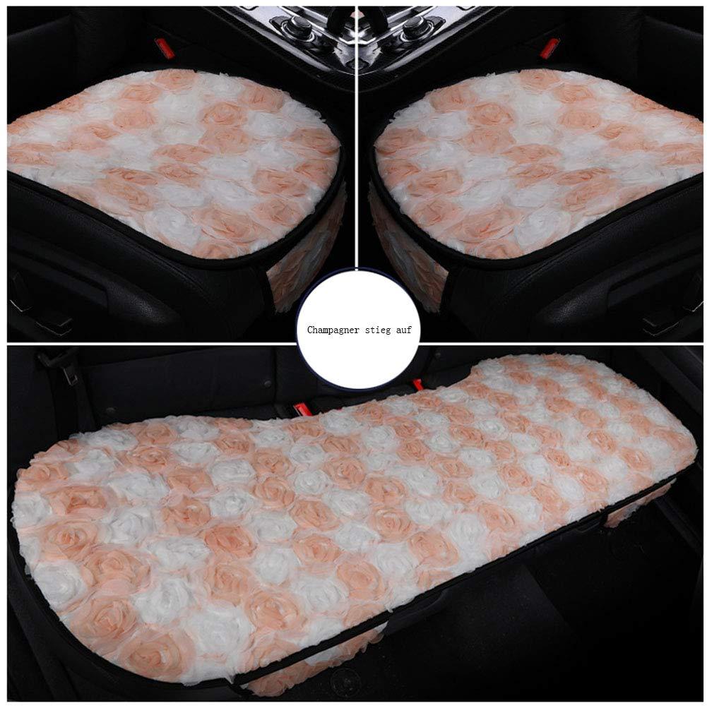 Goddess Car Seat Cushion - Wear-Resistant Little Fairy Cushion Single Piece Four Seasons Universal Lace(Pack of 3),C