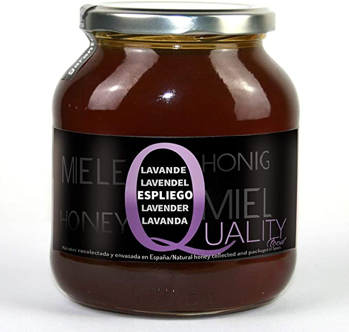 Miel pura de abeja 100%. Miel cruda de Espliego. 1 Kg. Producida en España. Sin pasteurizar ni calentar. Artesana de alta calidad. Tarro de cristal. Gran variedad de exquisitos sabores.: Amazon.es: Alimentación