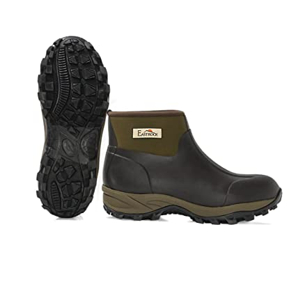 Harbormill East Rock Menu0027s Rubber Boots, Black/Tan, ...