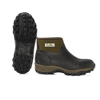 20454af68fce3 Harbormill East Rock Men's Rubber Boots, Black/Tan, Size 12/7.5