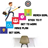 StickMe 'Career - Reach Goal - Office Inspirational Motivation Wall Sticker ' -SM717 (PVC Vinyl - 90cm X 60 cm)