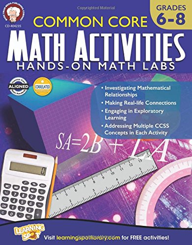 Amazon.com: Common Core Math Activities, Grades 6 - 8 ...