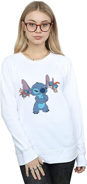 Disney Femme Lilo /& Stitch Chillin Sweat /À Capuche