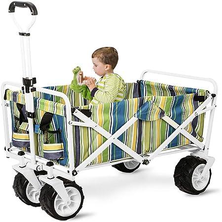 GARDEN CAR ZLMI Carro de jardín Multi-función de Gran Capacidad de Camping Pet Trailer de Compras de la casa Carrito de Tirar Carrito,B: Amazon.es: Hogar