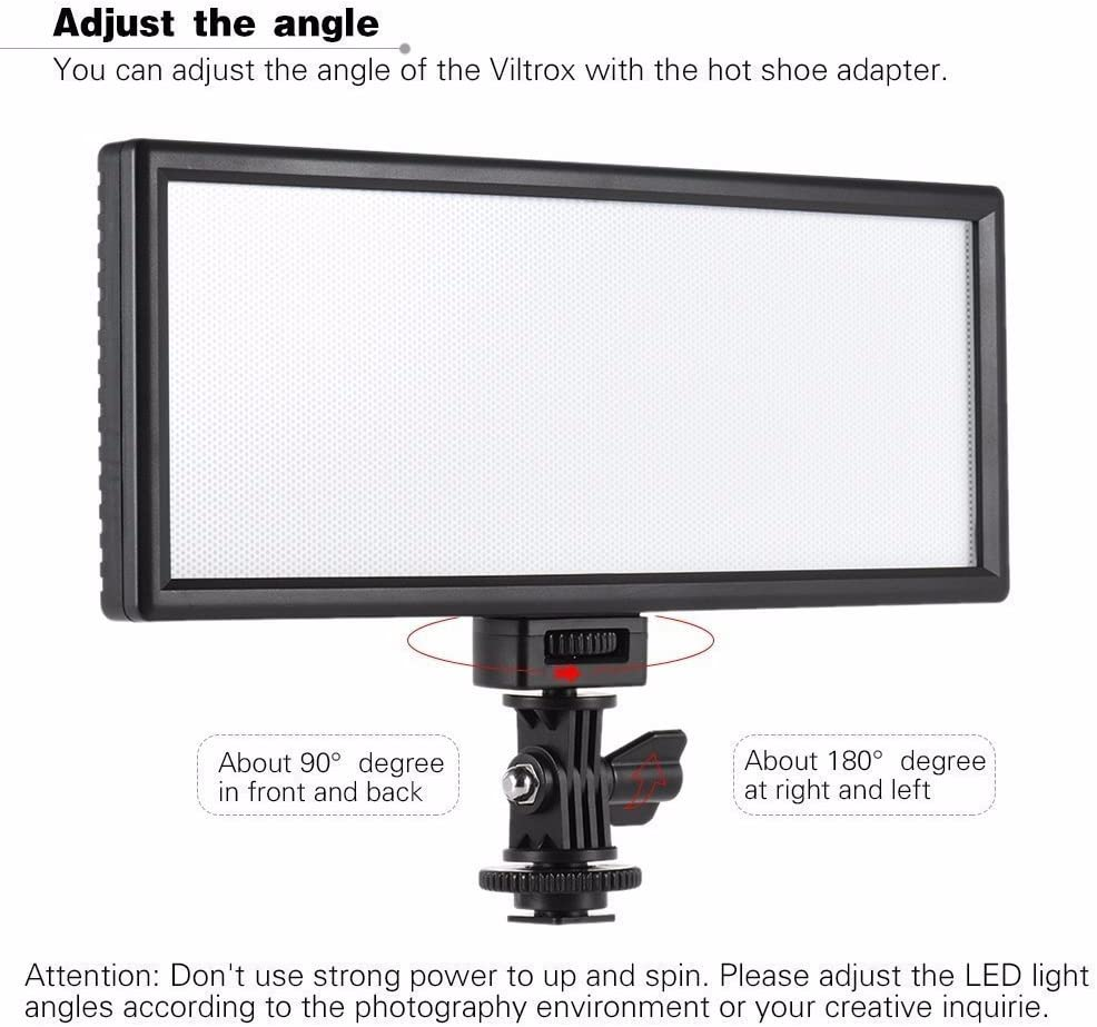 VILTROX L132T CRI95 5600K 3300K LED Luce video dimmerabile piatto per fotocamere per Canon Nikon Sony Olympus Panasonic DSLR Videocamere DV Videocamera