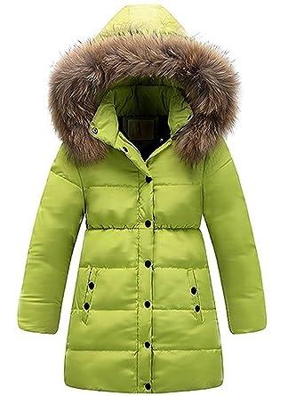 quality design 98240 f22fd Minetom Mädchen Winter Lang Wintermantel Mantel Jacket Trenchcoat Parka  Oberbekleidung Kleidung