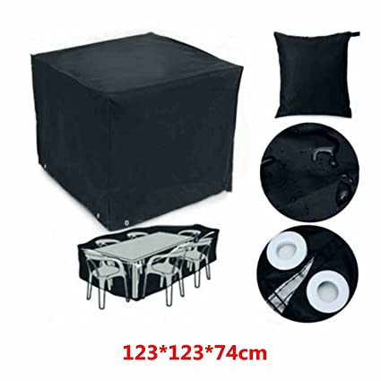 Generic 123*123*74cm Rect Outdoor Garden Patio Table Desk Chair Furniture Cover Waterproof