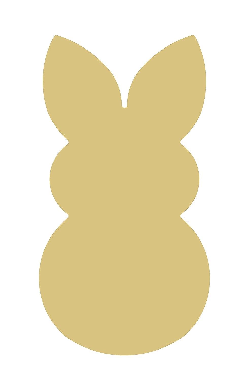 Amazoncom Rabbit Cutout Unfinished Wood Coney Hare Lapin Bunny Hop