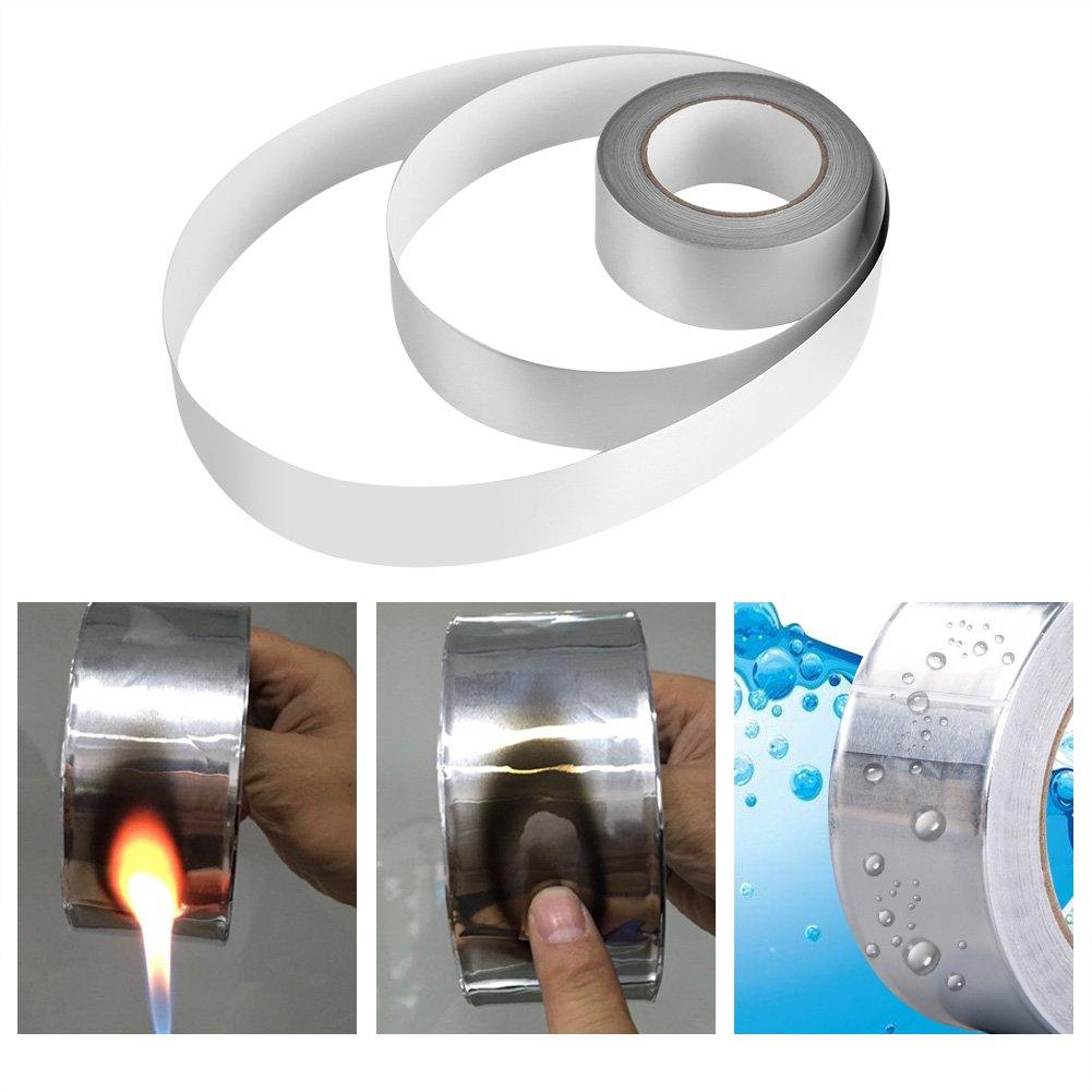 Zerodis 2'' x 164ft Silver Aluminium Foil Tape Adhesive Sealing Heat Shield Tape for Duct Metal Repair Insulation by Zerodis (Image #4)